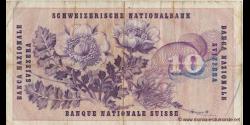 Suisse - p45a1 - 10 Franken / Francs / Franchi - 25.08.1955 - Schweizerische Nationalbank / Banque Nationale Suisse / Banca Na