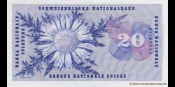 Suisse - p46i2 - 20 Franken / Francs / Franchi - 26.10.1961 - Schweizerische Nationalbank / Banque Nationale Suisse / Banca Na