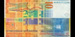 Suisse - p67a1 - 10 Franken / Francs / Franchi - 2000 - Schweizerische Nationalbank / Banque Nationale Suisse / Banca Nazional