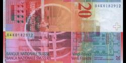 Suisse - p69c1 - 20 Franken / Francs / Franchi - 2004 - Schweizerische Nationalbank / Banque Nationale Suisse / Banca Nazional