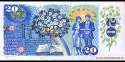 Tchécoslovaquie - p95 - 20 Korún Československých - 1988 - Státní Banka Československá