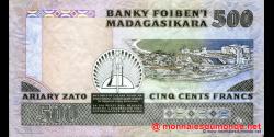 Madagascar - p71a - 500 francs = 100 ariary - ND (1988 - 1993) - Banky Foiben'i Madagasikara