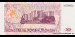 Transnistrie - p21 - 200Roubles - 1993 - Banke Nistryane / Pridnestrovskiy Bank / Pridnistrovskiy Bank
