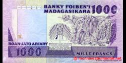 Madagascar - p72a - 1.000 francs = 200 ariary - ND (1988 - 1993) - Banky Foiben'i Madagasikara