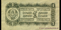 Yougoslavie - p048a - 1 Dinar - 1944 - Democratic Federal Republic of Yugoslavia