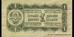 Yougoslavie - p048a - 1 Dinar - 1944 - Democratic Federal Republic of Yugoslavia