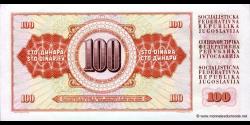 Yougoslavie - p080b - 100 Dinara / Dinarjev / Dinari - 01.08.1965 - Narodna Banka Jugoslavije / Narodna Banka na Jugoslavija