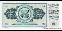 Yougoslavie - p081a - 5 Dinara / Dinarjev / Dinari - 01.05.1968 - Narodna Banka Jugoslavije / Narodna Banka na Jugoslavija