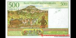 Madagascar - p75b - 500 francs = 100 ariary - ND (1994) - Banky Foiben'i Madagasikara