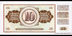 Yougoslavie - p082c - 10Dinara / Dinarjev / Dinari - 01.05.1968 - Narodna Banka Jugoslavije / Narodna Banka na Jugoslavija