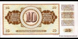 Yougoslavie - p087a - 10Dinara / Dinarjev / Dinari - 12.08.1978 - Narodna Banka Jugoslavije / Narodna Banka na Jugoslavija