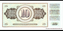 Yougoslavie - p087b - 10Dinara / Dinarjev / Dinari - 04.11.1981 - Narodna Banka Jugoslavije / Narodna Banka na Jugoslavija