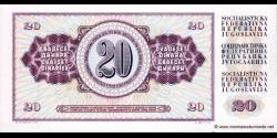 Yougoslavie - p088a - 20Dinara / Dinarjev / Dinari - 12.08.1978 - Narodna Banka Jugoslavije / Narodna Banka na Jugoslavija