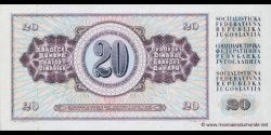 Yougoslavie - p088b - 20Dinara / Dinarjev / Dinari - 04.11.1981 - Narodna Banka Jugoslavije / Narodna Banka na Jugoslavija