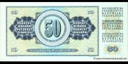 Yougoslavie - p089b - 50Dinara / Dinarjev / Dinari - 04.11.1981 - Narodna Banka Jugoslavije / Narodna Banka na Jugoslavija
