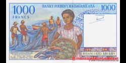 Madagascar - p76a - 1.000 francs = 200 ariary - ND (1994) - Banky Foiben'i Madagasikara