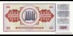 Yougoslavie - p090c - 100 Dinara / Dinarjev / Dinari - 16.05.1986 - Narodna Banka Jugoslavije / Narodna Banka na Jugoslavija