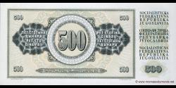 Yougoslavie - p091a - 500 Dinara / Dinarjev / Dinari - 12.08.1978 - Narodna Banka Jugoslavije / Narodna Banka na Jugoslavija