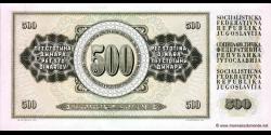 Yougoslavie - p091b - 500 Dinara / Dinarjev / Dinari - 04.11.1981 - Narodna Banka Jugoslavije / Narodna Banka na Jugoslavija