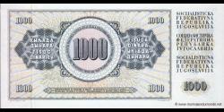Yougoslavie - p092c - 1.000 Dinara / Dinarjev / Dinari - 12.08.1978 - Narodna Banka Jugoslavije / Narodna Banka na Jugoslavija
