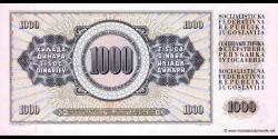 Yougoslavie - p092d - 1.000 Dinara / Dinarjev / Dinari - 04.11.1981 - Narodna Banka Jugoslavije / Narodna Banka na Jugoslavija