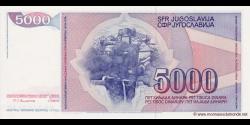 Yougoslavie - p093a - 5.000 Dinara / Dinarjev / Dinari - 01.05.1985 - Narodna Banka Jugoslavije / Narodna Banka na Jugoslavija
