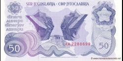 Yougoslavie - p101 - 50 Dinara / Dinarjev / Dinari - 01.01.1990 - Narodna Banka Jugoslavije / Narodna Banka na Jugoslavija