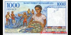 Madagascar - p76b - 1.000 francs = 200 ariary - ND (1994) - Banky Foiben'i Madagasikara