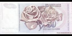Yougoslavie - p104 - 50 Dinara / Dinarjev / Dinari - 01.06.1990 - Narodna Banka Jugoslavije / Narodna Banka na Jugoslavija