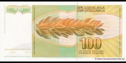 Yougoslavie - p105 - 100 Dinara / Dinarjev / Dinari - 01.03.1990 - Narodna Banka Jugoslavije / Narodna Banka na Jugoslavija