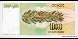 Yougoslavie - p108 - 100 Dinara / Dinarjev / Dinari - 1991 - Narodna Banka Jugoslavije / Narodna Banka na Jugoslavija