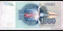 Yougoslavie - p110 - 1.000 Dinara / Dinarjev / Dinari - 1991 - Narodna Banka Jugoslavije / Narodna Banka na Jugoslavija