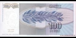 Yougoslavie - p112 - 100 Dinara - 1992 - Narodna Banka Jugoslavije