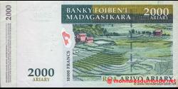 Madagascar - p83 - 2.000 ariary = 10.000 francs - ND (2003) - Banky Foiben'i Madagasikara