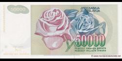 Yougoslavie - p117 - 50.000 Dinara - 1992 - Narodna Banka Jugoslavije