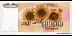 Yougoslavie - p118 - 100.000 Dinara - 1993 - Narodna Banka Jugoslavije