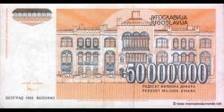 Yougoslavie - p123 - 50.000.000 Dinara - 1993 - Narodna Banka Jugoslavije