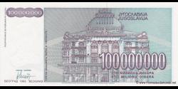 Yougoslavie - p124 - 100.000.000 Dinara - 1993 - Narodna Banka Jugoslavije
