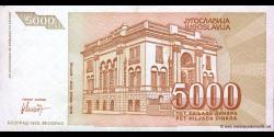 Yougoslavie - p128 - 5.000 Dinara - 1993 - Narodna Banka Jugoslavije