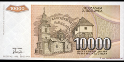 Yougoslavie - p129 - 10.000 Dinara - 1993 - Narodna Banka Jugoslavije