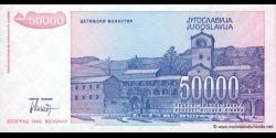 Yougoslavie - p130 - 50.000 Dinara - 1993 - Narodna Banka Jugoslavije