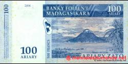 Madagascar - p86a - 100 ariary = 500 francs - 2004 - Banky Foiben'i Madagasikara