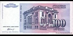 Yougoslavie - p139 - 100 Dinara - 1994 - Narodna Banka Jugoslavije