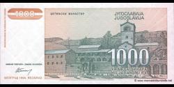 Yougoslavie - p140 - 1.000 Dinara - 1994 - Narodna Banka Jugoslavije