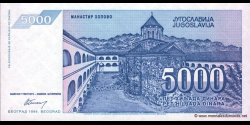 Yougoslavie - p141 - 5.000 Dinara - 1994 - Narodna Banka Jugoslavije