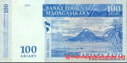 Madagascar - p86b - 100 ariary = 500 francs - 2004 - Banky Foiben'i Madagasikara