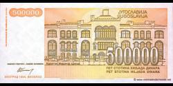 Yougoslavie - p143 - 500.000 Dinara - 1994 - Narodna Banka Jugoslavije