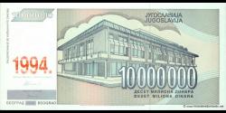 Yougoslavie - p144 - 10.000.000 Dinara - 1994 - Narodna Banka Jugoslavije