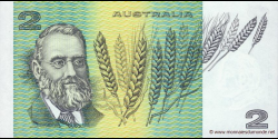 Australie - p43e - 2 Dollars - ND (1974 - 1985) - Reserve Bank of Australia