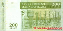 Madagascar - p87a - 200 ariary = 1.000 francs - 2004 - Banky Foiben'i Madagasikara
